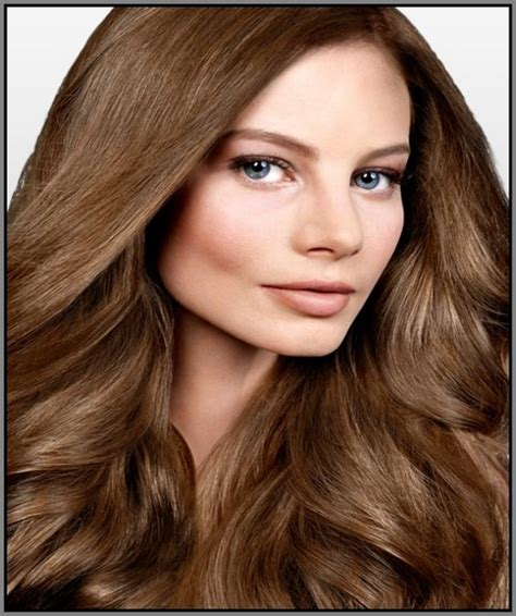 light golden brown brown hair with copper color