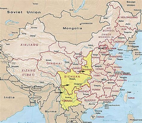china map  provinces  cities