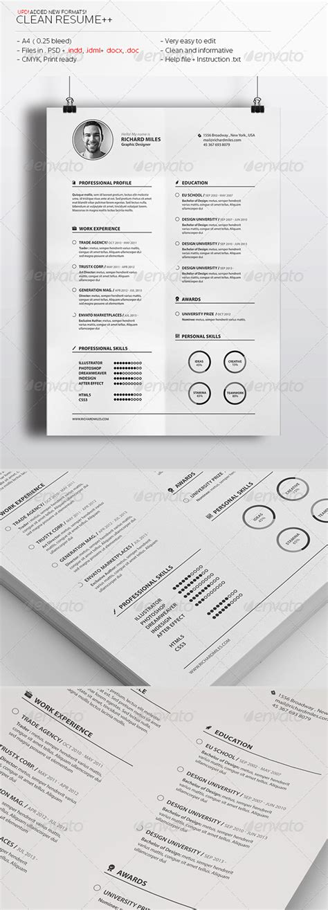 clean creative resume premium resume templates available for