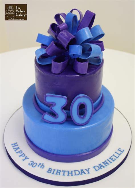 30th Birthday Purple & Blue Cake {birthday}  The Hudson