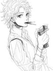 Hot Anime Boy Sketches Drawing