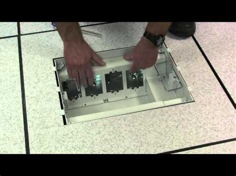 Wiremold Fsr Floor Box by Wiremold How To Install Device Plates Into The Evolution