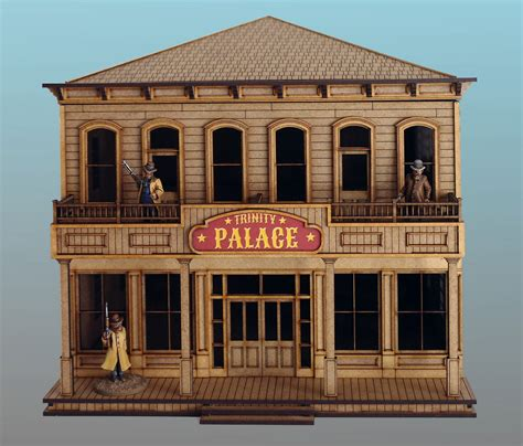 siege casino 28mm hotel for cowboy wargames and