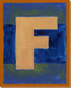 block letter f wrapped canvas giclee art print wall art With block letter wall art