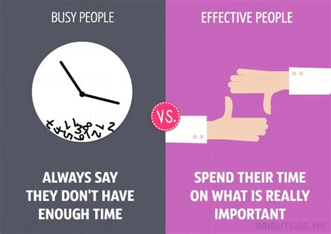 13 Differences Between Busy And Effective People