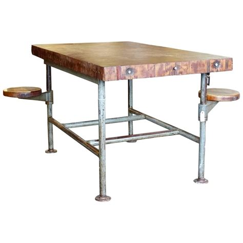 industrial swing seat work table at 1stdibs