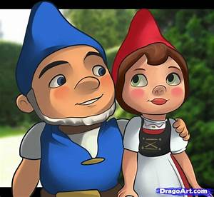 How to Draw Gnomeo and Juliet, Step by Step, Movies, Pop ...