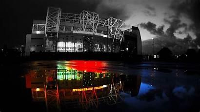 Manchester Trafford United Wallpapers Fc Desktop Night