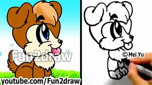 How To Draw A Cute Cartoon Dog Under 2 Min