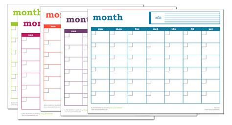 Blank Monthly Calendar Template Blank Monthly Calendar Excel Template Savvy Spreadsheets