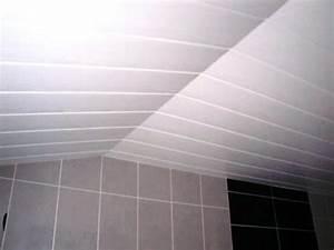 Faux Plafond Pvc : lames pvc pour plafond salle bain maison travaux ~ Premium-room.com Idées de Décoration