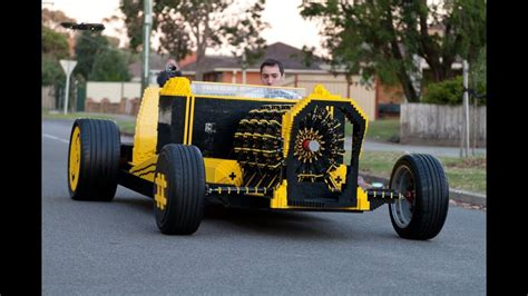 life size lego car powered  air youtube