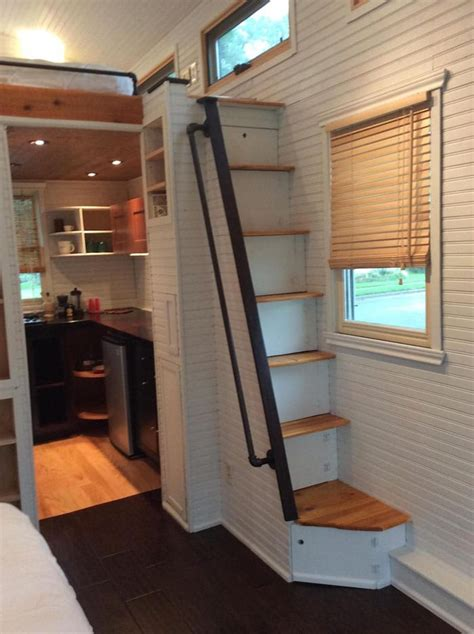 attic loft ladders for high ceilings this 250 sq home has a refreshing style