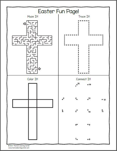 christian easter worksheets for kindergarten and