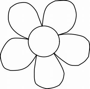 Black And White Daisy Clip Art at Clker.com