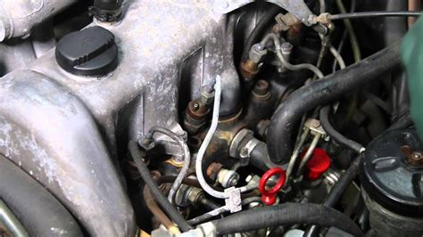 remove  replace diesel fuel injector return hose