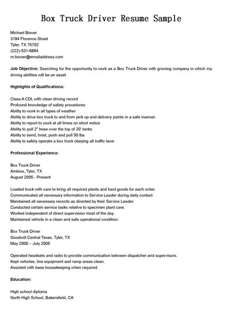 Truck Driver Resume Format by Cover Letter Cdl Driver Resume For Delivery Truck Me Me