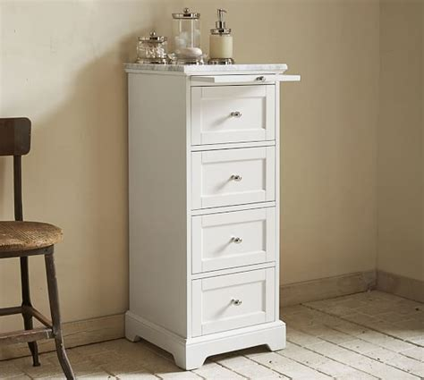 Marble Top Bathroom Cabinet by Marble Top Sundry Tower Pottery Barn
