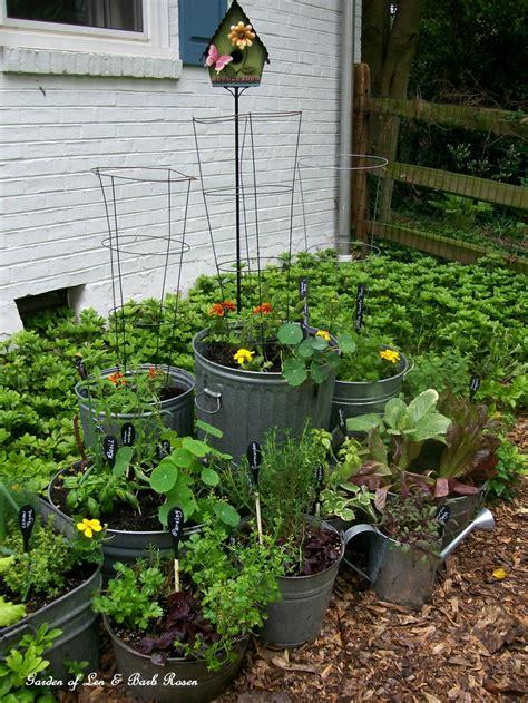 Galvanized Garden  Repurposed Container Planting Our