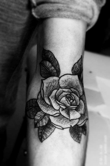 stippled Rose tattoo.. to match my letter shading | Rose tattoo on arm, White rose tattoos, Tattoos