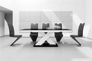 Esstisch Weiß Schwarz : design esstisch he 888 schwarz wei hochglanz ausziehbar 160 210 cm kaufen bei design impex ~ Whattoseeinmadrid.com Haus und Dekorationen