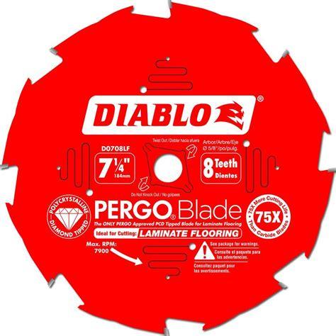 pergo flooring saw blade freud d0708lf diablo 7 1 4 inch 8t diamond tipped pergo circular saw blade ebay