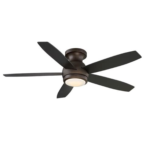 ge treviso 52 in rubbed bronze indoor led ceiling fan