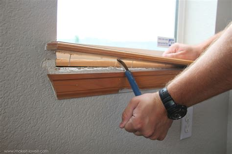 Interior Window Sill Replacement by Home Improvement How To Add Trim Around An Interior