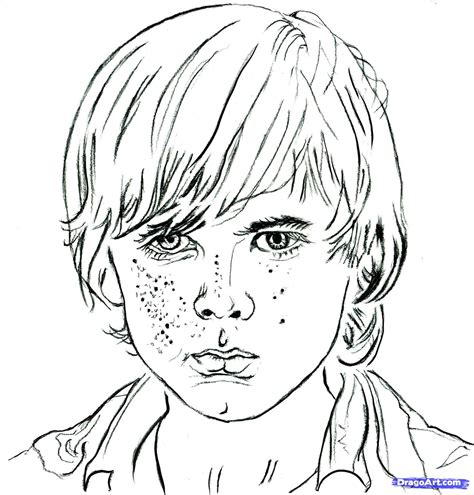 step    draw carl carl   walking dead