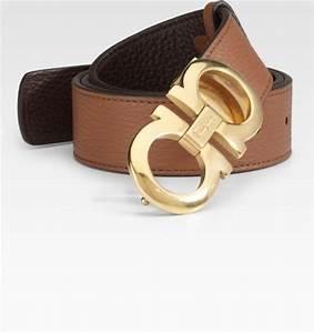 Ferragamo Reversible Leather Belt/gancino Buckle in Brown ...