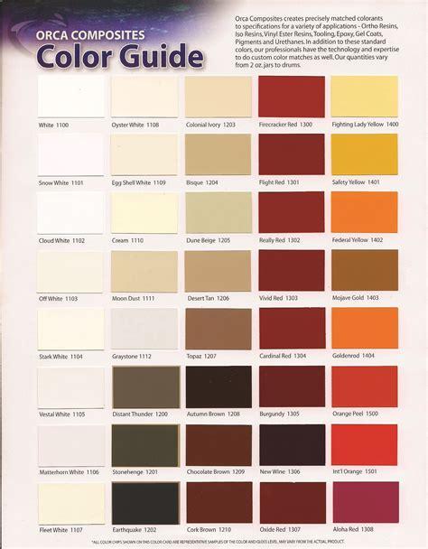 color coat fiberlay gelcoat color chart