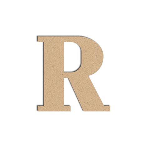 lettre en bois médium r majuscule 12 cm