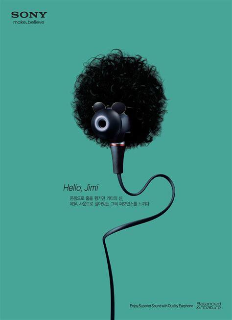 adeevee  selected creativity sony earphone jimi