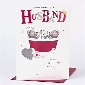 anniversary card husband bath only gbp149 With images of wedding anniversary cards for husband