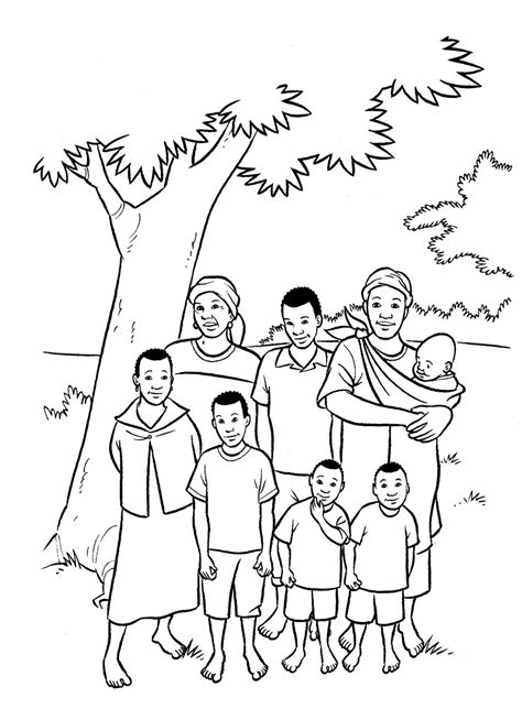 family coloring pages coloring kids