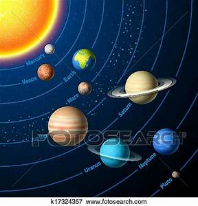 Clip Art of Solar System k17324357 - Search Clipart ...