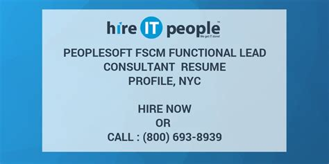 peoplesoft fscm functional lead consultant resume profile