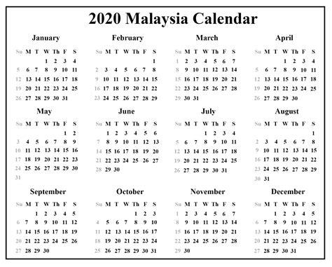 blank malaysia calendar template excel