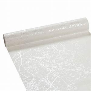 Longueur Rouleau Papier Peint : papier peint intiss forest blanc ~ Premium-room.com Idées de Décoration