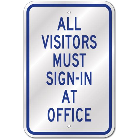 All Visitors Must Sign In Template by All Visitors Must Sign In Sign Fast Same Day Ship Low