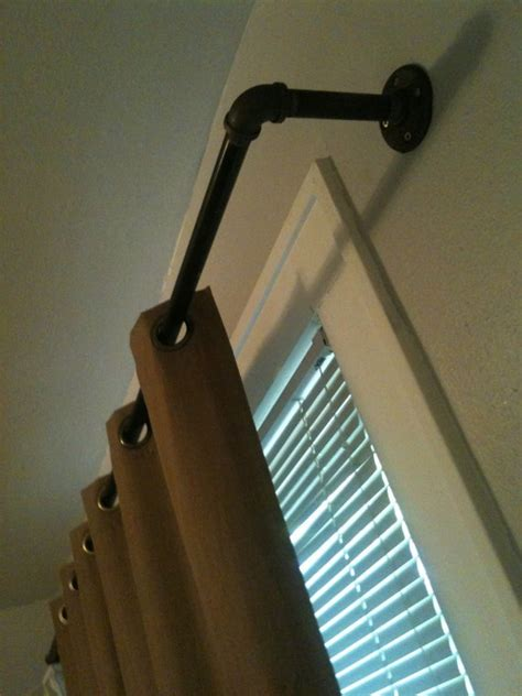 images  pipe curtain rods  pinterest