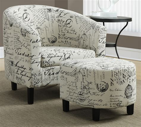 curved back vintage french fabric accent chair and