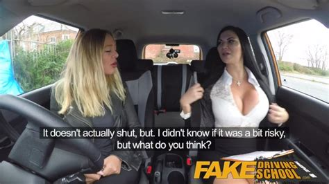 Fake Driving School Lesbian Sex With Hot Australian Babe