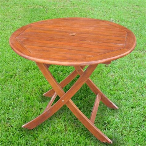 round folding table lowes shop international caravan 38 in w x 38 in l round folding