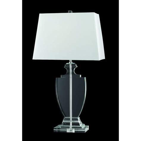 white table l shade tl911183 table l chrome white shade white chrome table