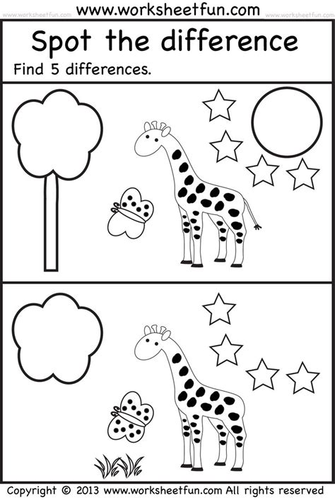 preschool search spot the difference encontrar diferencias spot 330