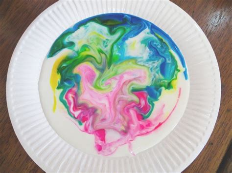 milk  food coloring