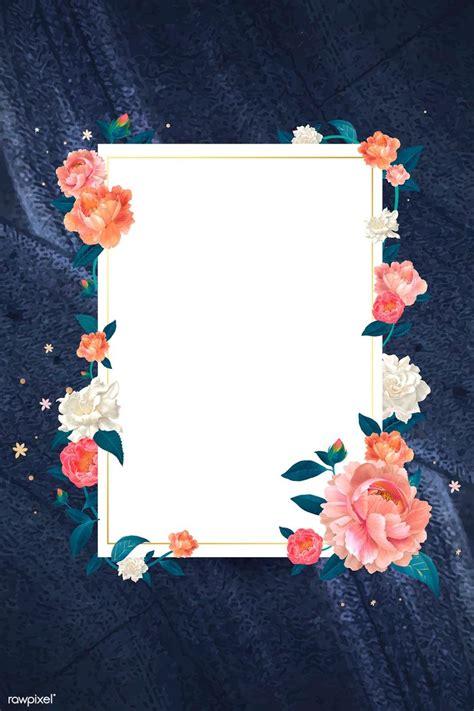 premium vector  blank white floral card