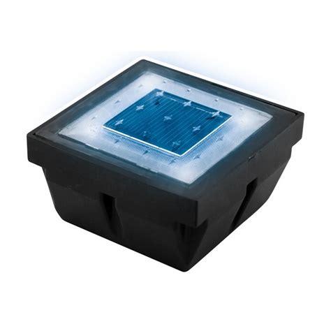 pav 233 encastrable led solaire bleu blanc
