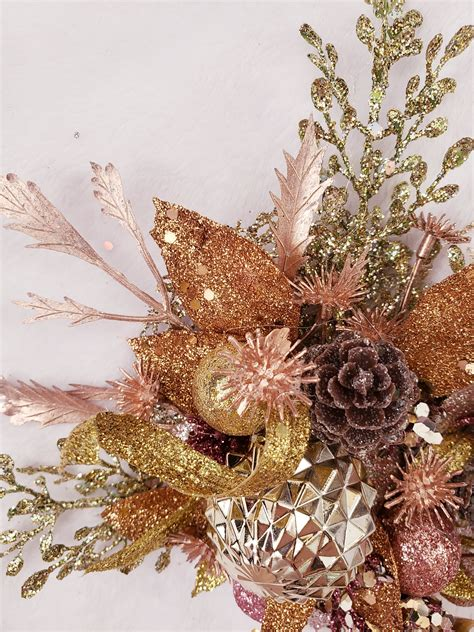 Handcrafted All That Glitters is Gold Holiday Fascinator - Aunt Gladys' Attic